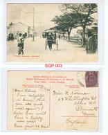 Penang Street Scene Dato Kramal Postcard Postmarked Penang DE 13 1907 - Singapore