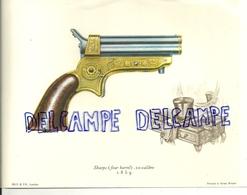 16,5/ 22 Cm. Image De Revolver Sharps. Illustration De J Pritchard - Vieux Papiers