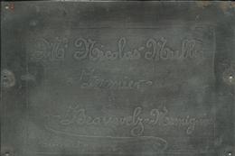 Beauwelz Plaque De Ferme Momignies Muller - Otros