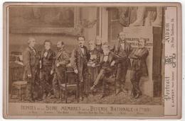 Photo Originale Cabinet XIXéme Gouvernement 1870 Députés Seine Ferry Arago Pelletan Pages Crémieux Par Appert - Old (before 1900)