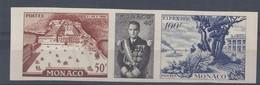 MONACO - ESSAI NON DENTELE N° 450/52 - TRIPTYQUE FIPEX 1956 - NEUF SANS CHARNIERE - Neufs