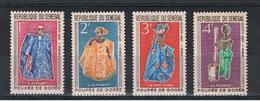 SENEGAL:  1966  COSTUMI  LOCALI  -  S. CPL. 4  VAL. N. -  MICHEL  319/22 - Senegal (1960-...)