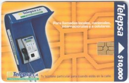 COLOMBIA A-134 Chip Telepsa - Communication, Phone Booth - Used - Kolumbien