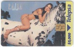 COLOMBIA A-139 Chip Telepsa - People, Woman, Erotic, Animal, Horse - Used - Kolumbien