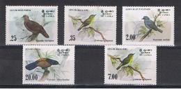 SRI  LANKA:  1983/88  UCCELLI  LOCALI  -  S. CPL. 5  VAL. N. -  MICHEL  640/43 + 840 - Sri Lanka (Ceylon) (1948-...)