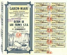 GABON-NIARI, 500 Francs - Afrique
