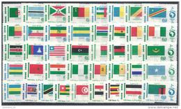 1969 EGYPTE 746-86** Drapeaux De L'Afrique, 41 Timbres - Égypte
