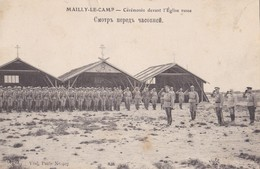 MAILLY LE CAMP  CEREMONIE DEVANT L' EGLISE RUSSE   PRIX FIXE - Mailly-le-Camp
