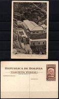 Bolivia 1943 CEFILCO TE 9  Serie Minería: La Paz, Termas De Urumiri. Montaña, Aguas Termales. - Bolivia