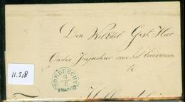 VOORLOPER BRIEFOMSLAG Uit 1848 Gelopen Van DORDRECHT Naar HELLEVOETSLUIS   (11.518) - Nederland