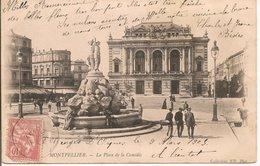 L35B171 - Montpellier - La Place De La Comédie   - ND - Carte Précurseur Animée - Montpellier