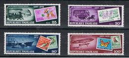 TOGO:  1973  GIORNATA  DEL  FRANCOBOLLO  -  S. CPL. 4  VAL. N. -  MICHEL  999/02 - Togo (1960-...)