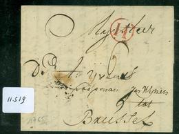 VOORLOPER * HANDGESCHREVEN BRIEF Uit 1765 Gelopen Van ROTTERDAM Naar BRUSSEL (11.519) - Pays-Bas