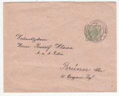 Austria - Czechia, Postal Stationery Letter Cover Travelled 190? Královo Pole (Königsfeld) Pmk B190401 - Interi Postali