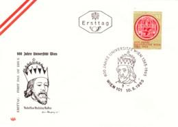 1965 Universität Wien 1365 - 1965 FDC (ANK 1210, Mi 1180) - FDC