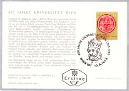 1965 Universität Wien 1365 - 1965 FDC Karte (ANK 1210, Mi 1180) - FDC