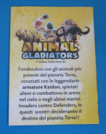 ANIMAL GLADIATORS CHECK LIST EDIBAS CARDS - Altri
