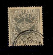 ! ! Macau - 1885 Crown 80 R (Perf. 13 1/2) - Af. 21 - Used - Oblitérés