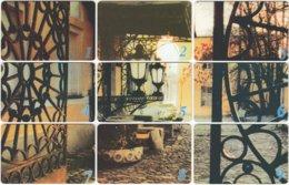 UKRAINE A-109 Chip UkrTelekom - Culture, Doorway (puzzle) - 9 Pieces - Used - Ukraine