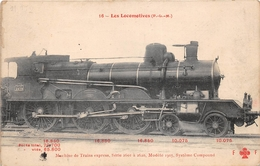 ¤¤  - Les Locomotives  -  Machine Du Réseau Du P.L.M. N° 2614  -  Train   -  Chemin De Fer - Equipment