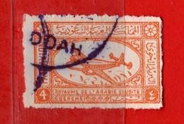 (Us.3) ARABIA SAUDITA °-1949 - P.A. Avion De Ligne .Yvert. 3 . Usato.  Vedi Descrizione - Arabia Saudita