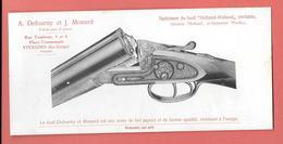 Buvard Lithographié Début XXe - A.DEFOURNY & J.MONARD -Fabricants D'armes à VIVEGNIS (Belgique) FUSIL HOLLAND-HOLLAND - Other