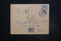 FRANCE - Taxe De Lyon Sur Enveloppe Du Cameroun En 1961 - L 26943 - Strafportbrieven