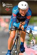 CARTE CYCLISME MICHELE SCARPONI SIGNEE TEAM LIBERTY 2005 - Radsport