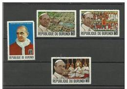 Burundi - 1969 Papal Visit MH *  SG 459-62  Sc B41-4 - Burundi