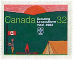 Ref. 38055 * NEW *  - CANADA . 1983. 75th ANNIVERSARY OF THE SCOUTS. 75 ANIVERSARIO DEL ESCULTISMO - Nuevos
