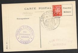 Carte Avec Cachet Exposition Philatélique De Saumur-Perforé-Ancoper EXP./P.S 161 - France
