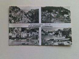 Black And White  Postcard -  Multi View, Polperro - England
