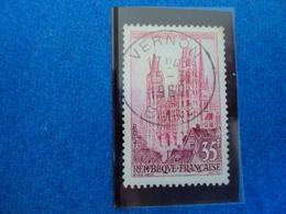 """1950-1959-timbre Oblitéré N° 1127    """" Cathédrale De Rouen""""       0.15    Photo    1 - Oblitérés"""