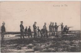 (x) CHAMP DE TIR à BEVERLOO- BELGIQUE - 1913 - Casques De Tir étrange ??? - Manoeuvres