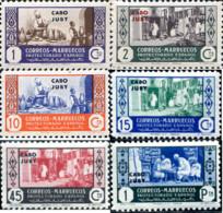 Ref. 595225 * NEW *  - CAPE JUBY . 1946. SPANISH MOROCCO HABILITADO STAMPS. SELLOS DE MARRUECOS ESPA�OL HABILITADOS - Cabo Juby