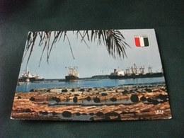NAVE SHIP  SAN PEDRO PORT A BOIS COTE D'IVOIRE COSTA D'AVORIO STEMMA - Commercio