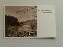 Black And White  Postcard -  View From Churchyard, St Just In Roseland - England