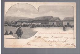 BOLIVIA Fiesta De Indios En La Plaza De Tiaguanaco 1908 OLD POSTCARD - Bolivia