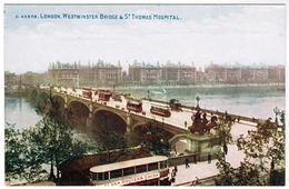 London, Westminster Bridge & St Thomas Hospital (pk55904) - London