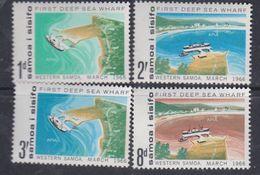Samoa N° 187 / 90 XX Inauguration Du 1er Wharf En Eau Potable à Apia, Les 4 Valeurs Sans Charnière, TB - Samoa