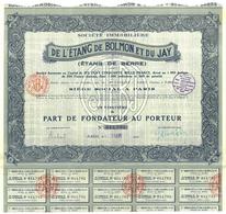 Société Immobilière De L'Étang De Bolmon Et Du Jay - Shareholdings
