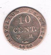 10 CENTIMES  1810 H Bonaparte  (mintage 7725333 Ex.) FRANKRIJK /2975/ - Frankreich