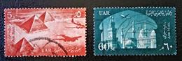 EMISSIONS 1959/60 - OBLITERES - YT PA 81 + 83 - Posta Aerea