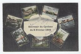 Carte Multivue Du Cyclone Du 8 Février 1906 - Polynésie Française