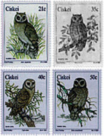Ref. 32766 * NEW *  - CISKEI . 1991. NOCTURNAL BIRDS OF PREY. RAPACES NOCTURNAS - Ciskei