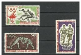 Cameroun - 1964 Olympics 3 MNH **   SG 364-6  Sc 403-4 & C49 - Cameroon (1960-...)