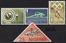 Nigeria - 1964 - Yvert N° 161 à 164 **  - Jeux Olympiques De Tokyo - Nigeria (1961-...)