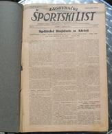 ZAGREBACKI SPORTSKI LIST 1924 UVEZANO 40 BROJEVA KINGDOM OF YUGOSLAVIA, BANDED 40 NUMBER - Libros