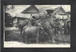 CPA Laos Asie Non Circulé Indochine éléphants - Laos