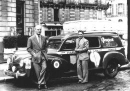 Le Raid Le Cap-Alger-Paris 1951   -  Peugeot 203  -  Pilotes: André Mercier/De Cortanse    -  CP - Rallyes